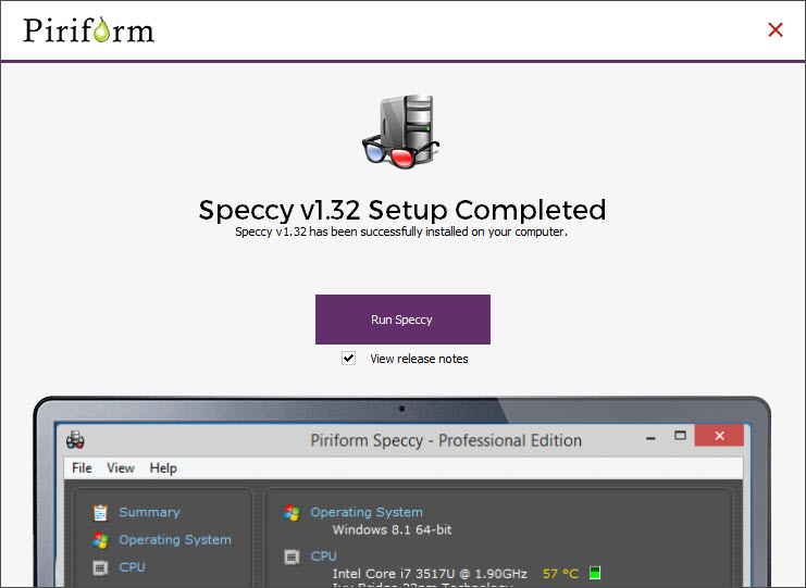 Speccy Install