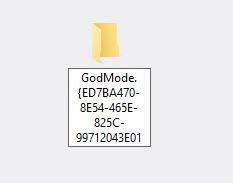 God Mode Folder
