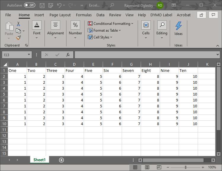Excel Watermark 1