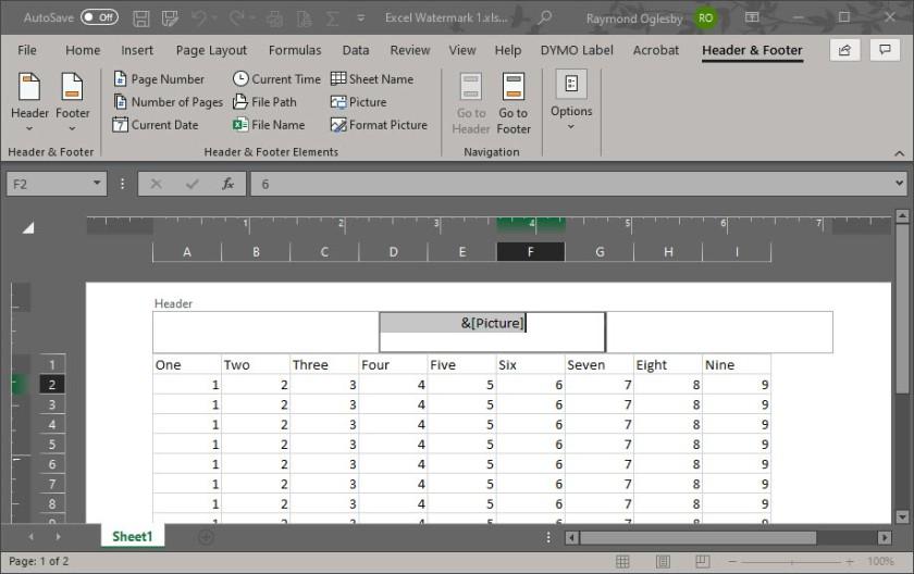 Excel Watermark 5
