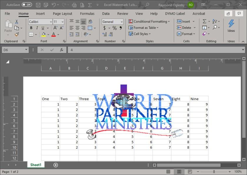 Excel Watermark 8