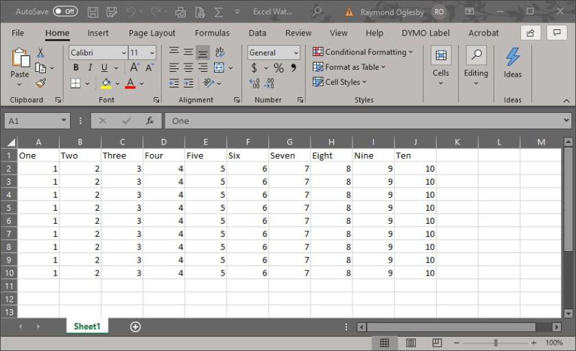 Excel Security 1