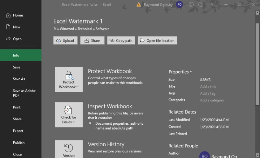 Excel Security 7