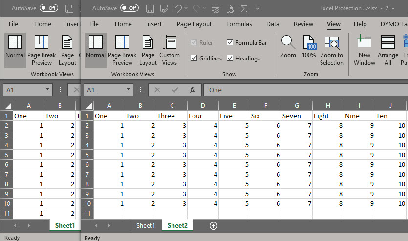 Excel Side by Side 3