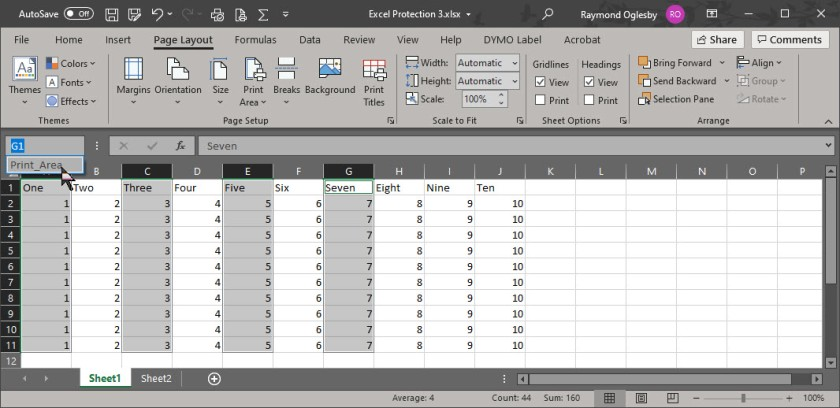 Excel Print Area 3
