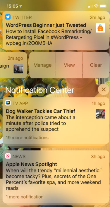 iPhone Notifications 2