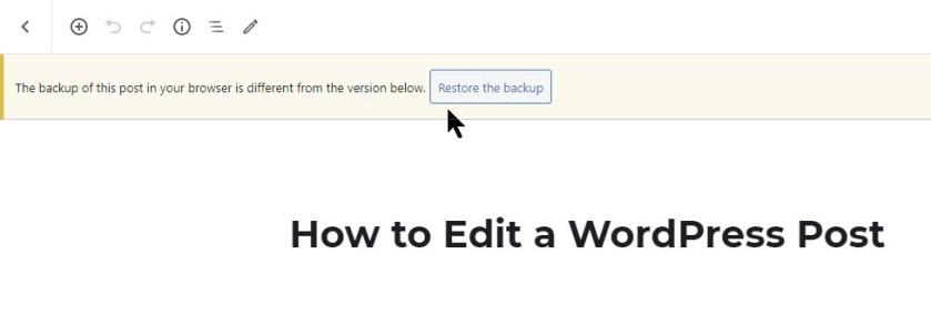 Edit a Post 2