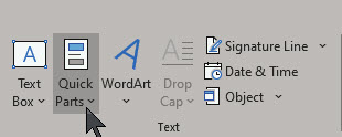 Word AutoText 3