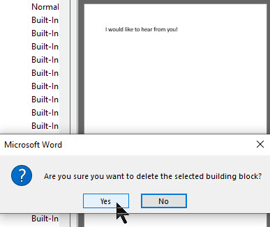 Word AutoText 8