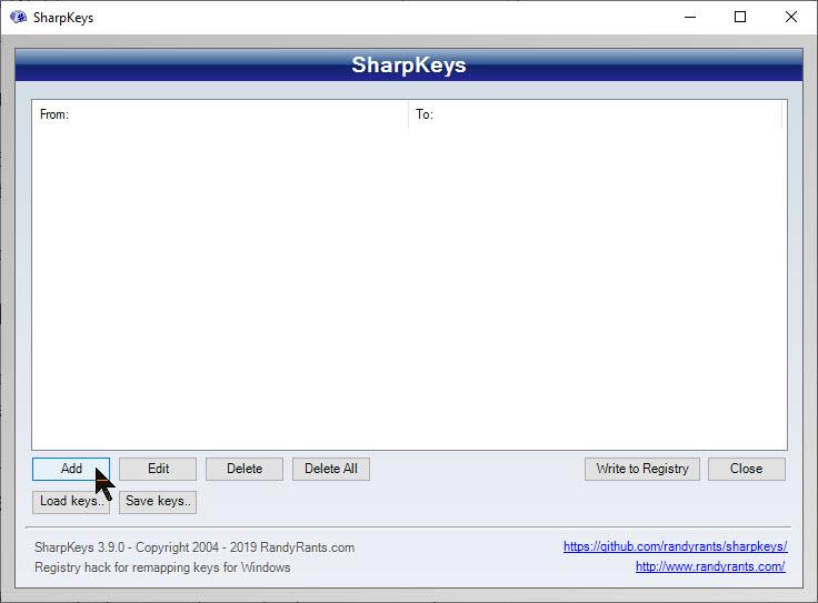 SharpKeys 1