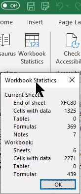 Excel Workbook Statistics 1