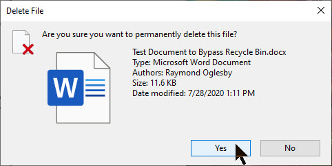 Bypass Recycle Bin 2