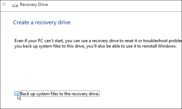 Recovery Drive 2