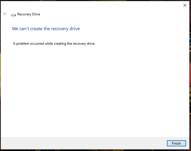 Recovery Drive 5